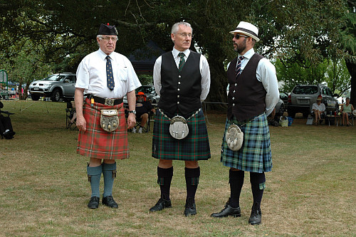 Left to right: Mr Mervyn Appleton, Solo Piping judge; Mr Iain Blakeley, Solo Piping judge and Dr Brendon Eade, Technical Assistant.