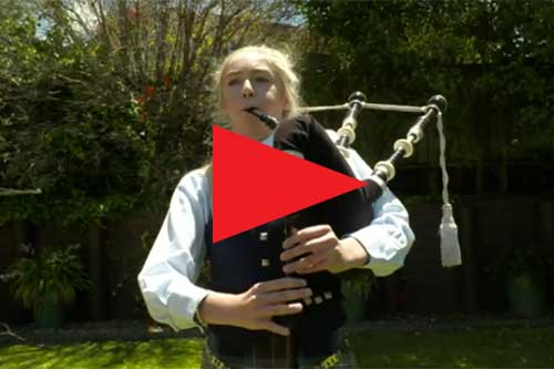 Meet the teen bagpiper bucking stereotypes with her epic talent   1 NEWS NOW   TVNZ